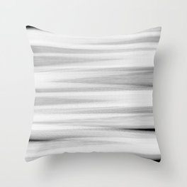 Black and White Stripes Abstract Throw Pillow