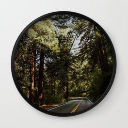 Road through the Redwoods Wall Clock