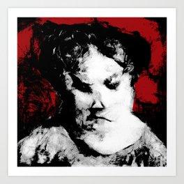 The Victorian Maid and Her Dark Secret Art Print