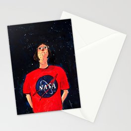 Night sky admirer Stationery Cards