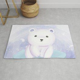 Cute baby polar bear Rug