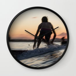 Slow Sunset Wall Clock