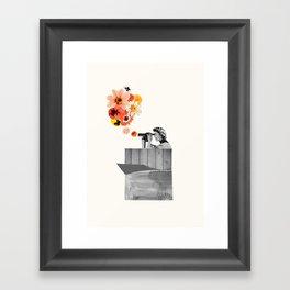 in bloom (black & white) Framed Art Print