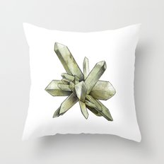Green Crystal Throw Pillow