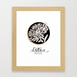 Aster. Keep doing what you love Framed Art Print
