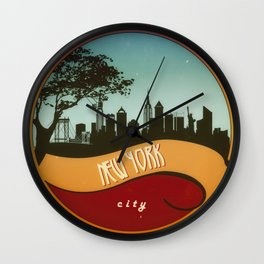 New York city vintage Wall Clock