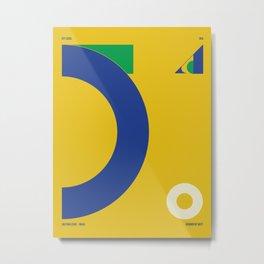São Paulo — City Series Metal Print