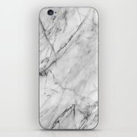 white marble iPhone & iPod Skins featuring Marble by Patterns and Textures