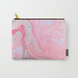 Marbled Effect with Pink Carry-All Pouch