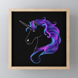 Supernova Unicorn Framed Mini Art Print
