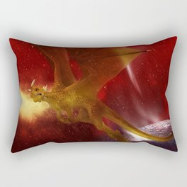 Golden Dragon Rectangular Pillow