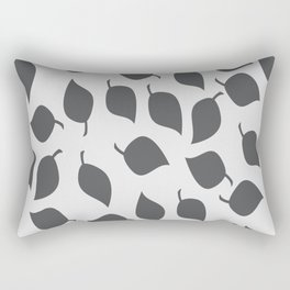 Leaves in Grey and Light Grey Rectangular Pillow