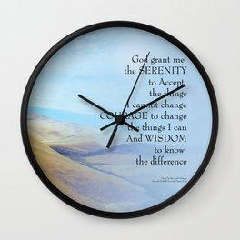 Serenity Prayer Golden Hills Wall Clock