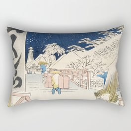 Bikuni bridge in snow Rectangular Pillow