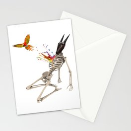Surreal collage - Parrot Flight Stationery Cards
