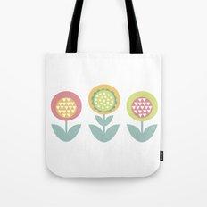 Geometric flower print  Tote Bag