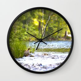 By The Lake - summer scene Wall Clock
