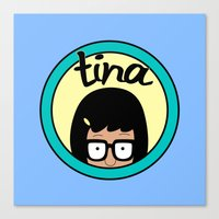 tina belcher Canvas Prints featuring Tina by Page394