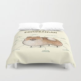 Anatomy of a Pomeranian Duvet Cover