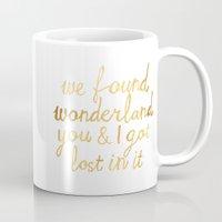 wonderland Mugs featuring Wonderland by Tangerine-Tane