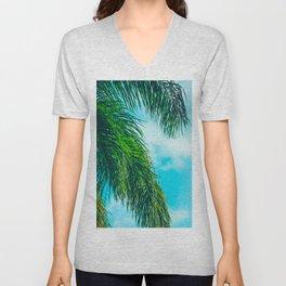 Tropical Palms Maui Hawaii Unisex V-Neck