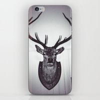 antlers iPhone & iPod Skins featuring Antlers  by Mark Spence