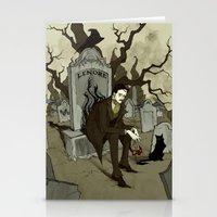 edgar allen poe Stationery Cards featuring Edgar Allan Poe by Abigail Larson