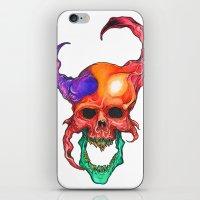 rasta iPhone & iPod Skins featuring RASTA DEMON by The Anti-Dan Artwork