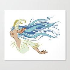Goat Girl Canvas Print