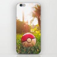 pokeball iPhone & iPod Skins featuring Pokeball by Nima Nakhshab