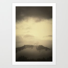 Backyard View with Clouds     ALASKA  Art Print