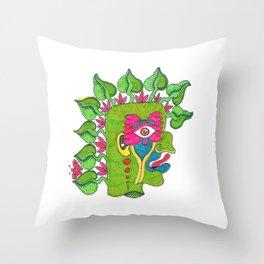 Pre-Columbian God Throw Pillow