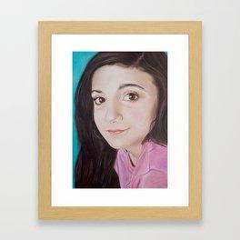 Portrait of Lia Framed Art Print