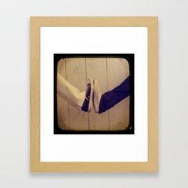 Converse Black and White Framed Art Print