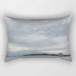 Clouds Over Governor's Island Rectangular Pillow