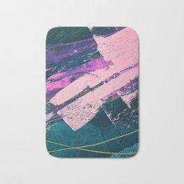 Wonder. - A vibrant minimal abstract piece in jewel tones by Alyssa Hamilton Art Bath Mat