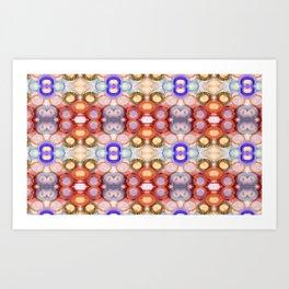 Happy and Bright Boho Watercolor Circles Art Print