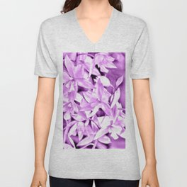 Cascading orchids - Mauve Unisex V-Neck