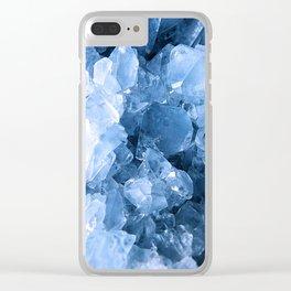 Celestite Blue Clear iPhone Case