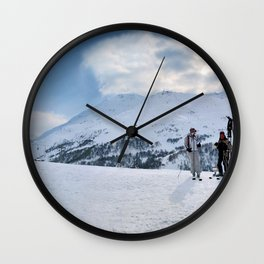 Ski Resort Mountain Landscape Wall Clock