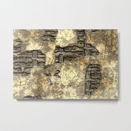 Medieval Wall of Wattle and Daub Metal Print