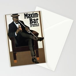 Vintage poster - Maxim-Bar Stationery Cards