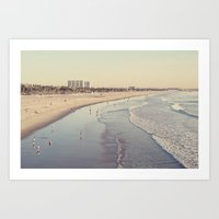 santa monica Art Prints featuring Santa Monica by Carey Shaw