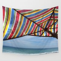 trip Wall Tapestries featuring Beach Trip by DesignsByMarly