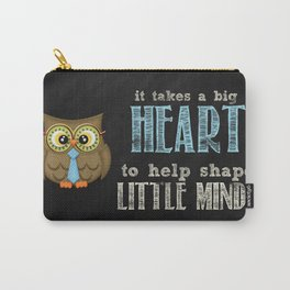 Big heart blue Carry-All Pouch