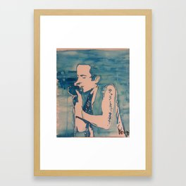 Joe Strummer In His Element Framed Art Print