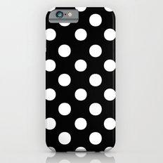 Polka Dots (White/Black) iPhone 6 Slim Case
