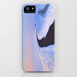 I - Lake and dike at sunrise in winter in The Netherlands iPhone Case
