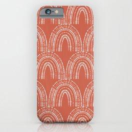 burnt orange arch pattern iPhone Case