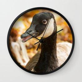 Autumn Goose Wall Clock